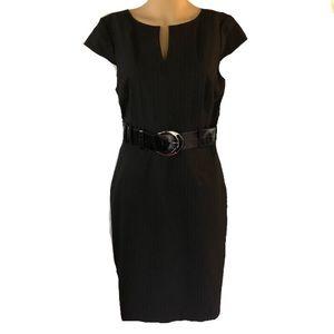 Antonio Melani dark pinstriped sheath dress